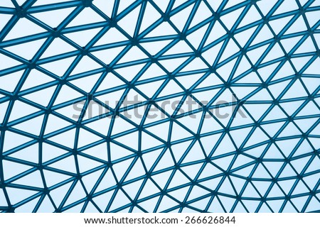 Modern glass building dome - stock photo