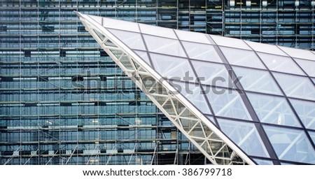 Modern glass building structure texture. Modern concept.  - stock photo