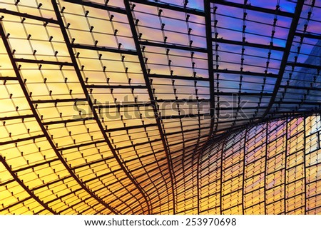 modern glass facade, abstract composition - stock photo