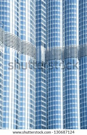 modern glass wall - stock photo