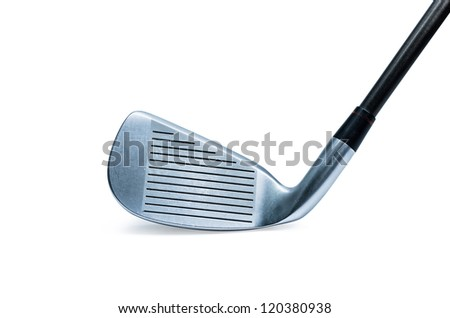Modern golf club isolated on white background. - stock photo
