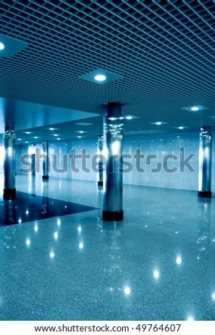modern hall inside office center - stock photo