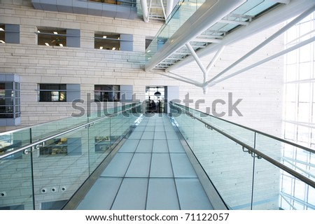 modern hall inside office center - stock photo