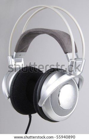 Modern headphones - stock photo