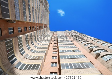 modern high-rise high-altitude building and blue sky