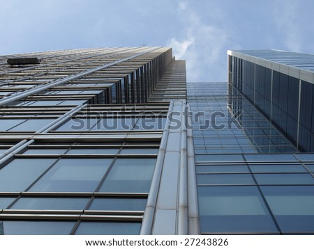Modern highrise skyscraper steel and glass architecture