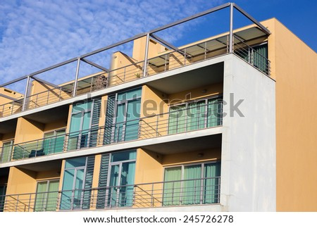 Modern holiday residential apartments  - stock photo