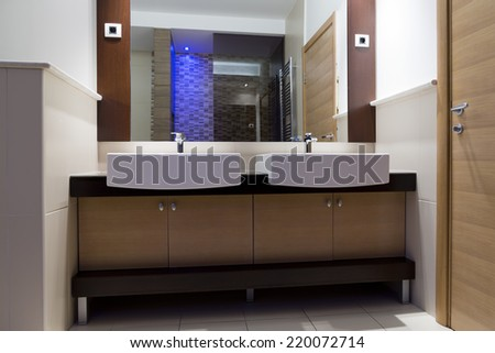 Modern home bathroom - stock photo