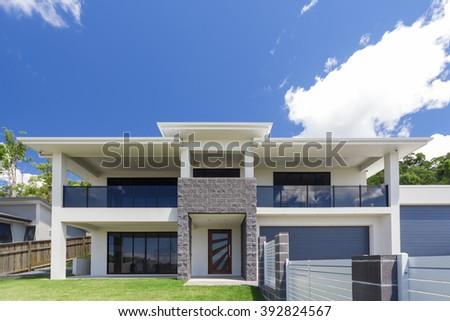 modern home exterior on a sunny day - Modern Home Exterior