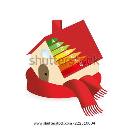 Modern house - energy efficiency - stock photo