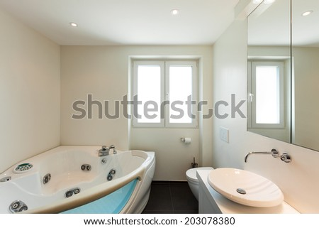 modern house, interior, bathroom view  - stock photo