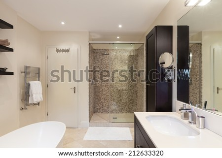 modern house, interior, bathroom view