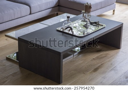 modern house interior decoration design  - stock photo