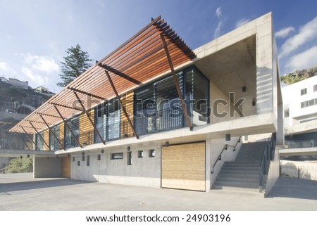 modern house located at Madeira island, Portugal - stock photo