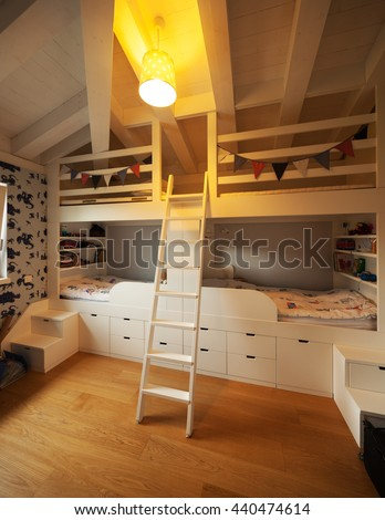 Modern house, nobody inside - stock photo