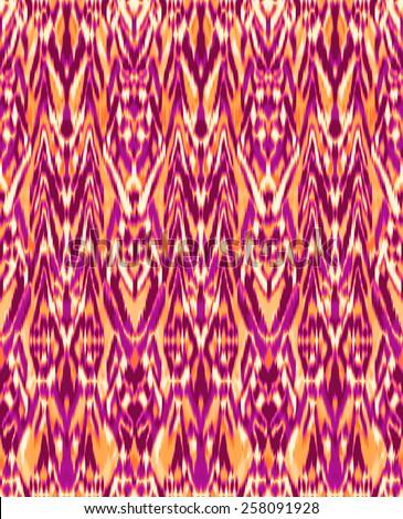 modern ikat pattern ~ seamless background - stock photo