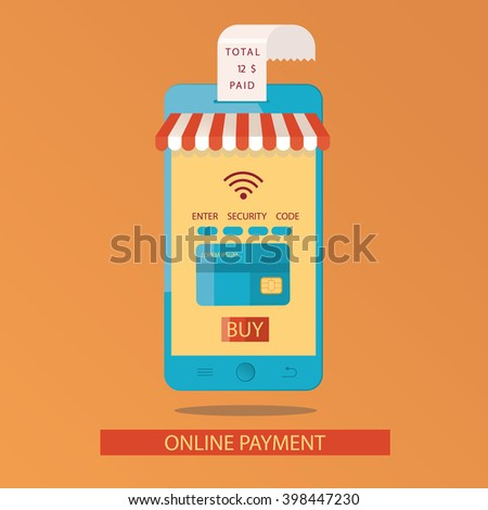 Modern illustration of online payments - stock photo