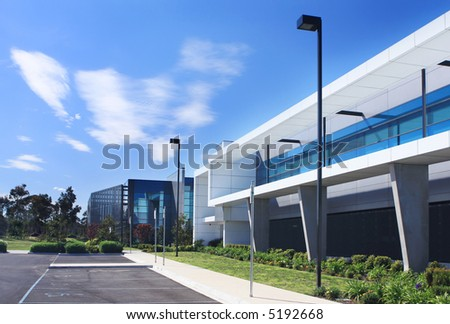 Modern industrial building. - stock photo