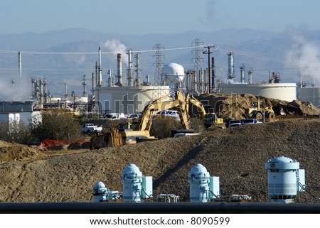 Modern industrial technology: Water pumps, construction machinery, electrical power transmission and oil refinery