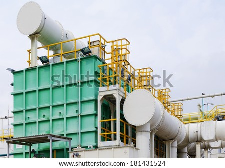 modern industry at day, Gas  water oil equipment pipeline.  - stock photo