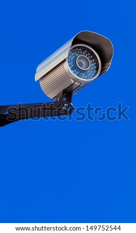 Modern Infrarred Day-Night Camera with a Blue Sky