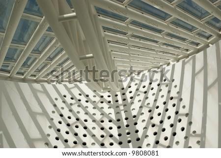 Modern interior architectural details - MOMA San Francisco, California - stock photo
