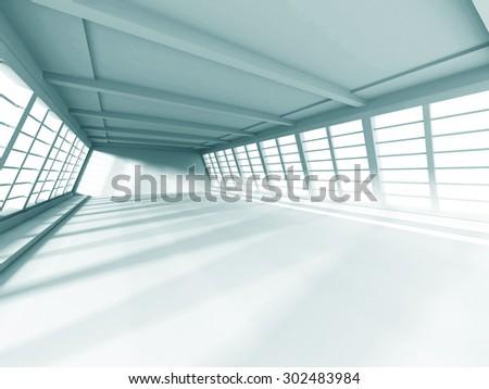 Modern Interior Architecture White Background. 3d Render Illustration - stock photo