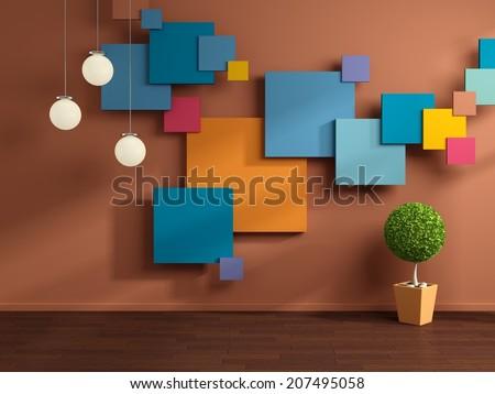 Modern interior composition. - stock photo