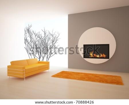 modern interior composition - stock photo