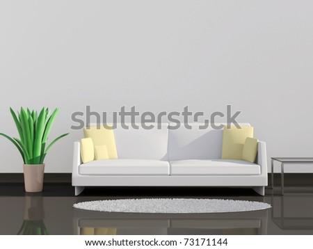 Modern Interior Design - stock photo