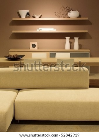 Modern interior design, great for architecture, decoration and style themes. - stock photo