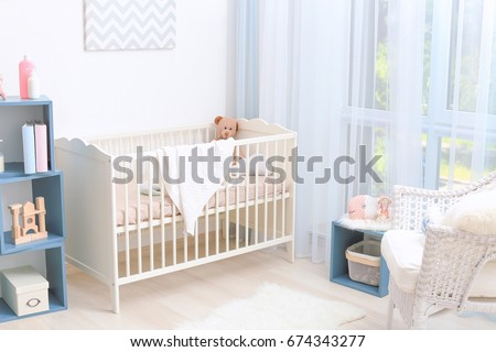 Modern Interior Design Of Baby Room With Crib Part 39