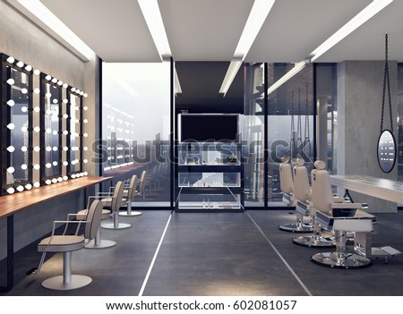 Beauty salon interior stock images royalty free images for Interieur design salon