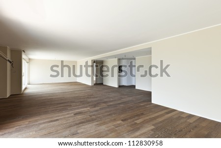 modern interior, empty large room - stock photo
