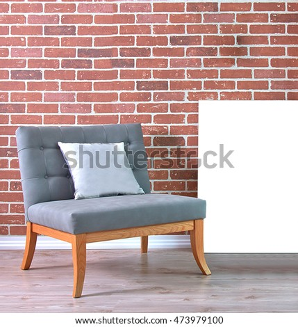 Modern Interior Living Room Office Stone Stock Photo 473979100 ...
