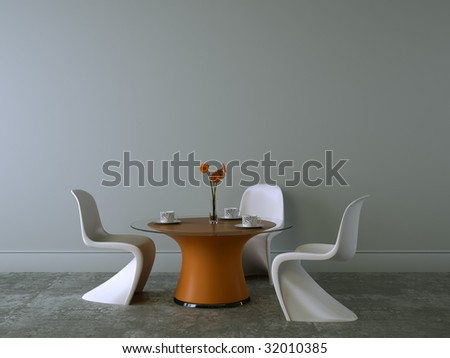 modern interior in new home - stock photo