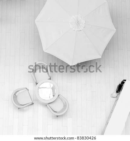 modern interior of a zone of rest in hotel - stock photo