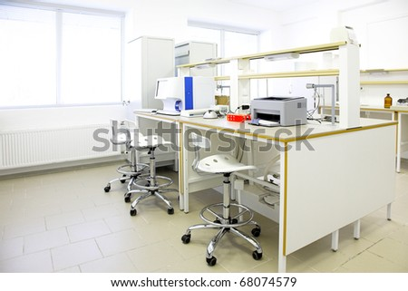modern interior of biological laboratory in research center