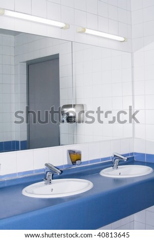 Modern interior of private restroom