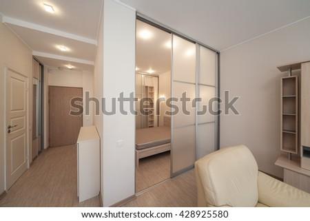 Modern interior of the apartment. Studio. - stock photo