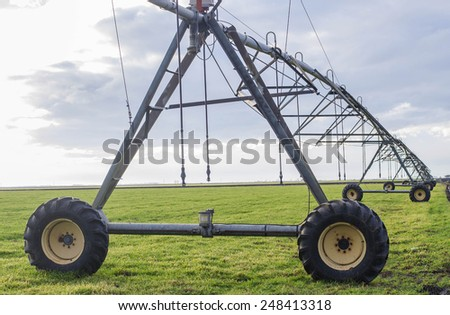 Modern irrigation system - stock photo