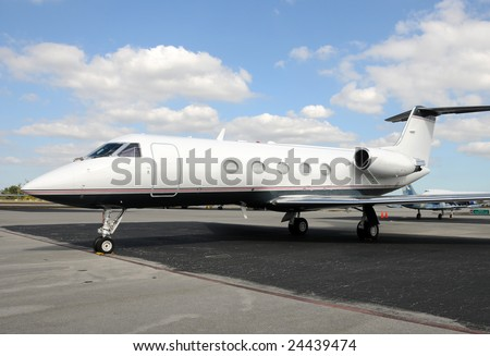 Modern jet airplane for business executive charters