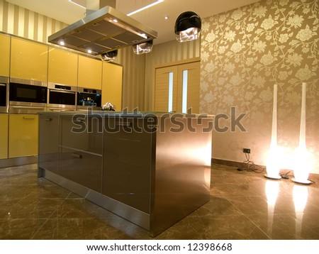 modern kitchen - stock photo