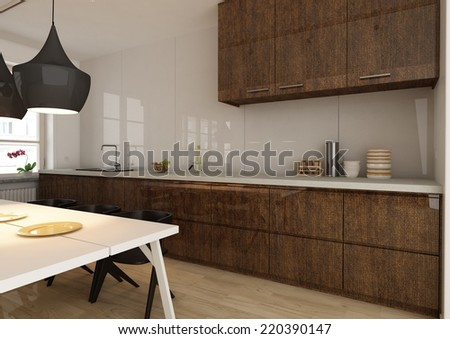 Kitchen Interior Stock Images Royalty Free Images Vectors