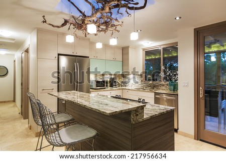 Modern Kitchen Home Interior - stock photo