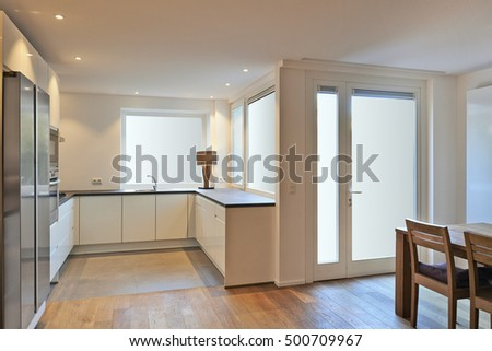 modern kitchen in renovated house