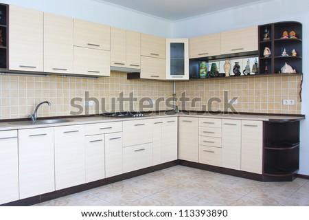 Modern kitchen interior - stock photo