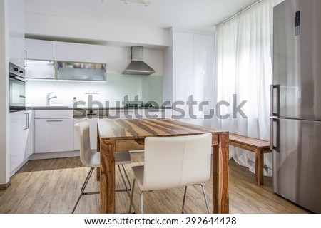 Modern Kitchen Interior Design Architecture Stock Image,Photo of Living room, Bathroom,Kitchen,Bed room, Office, Interior photography. - stock photo