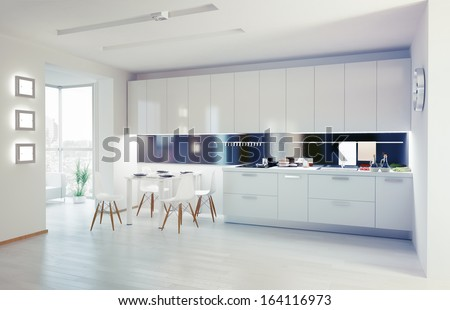 Modern Kitchen Stock Images Royalty Free Images Vectors