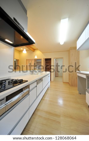 Modern kitchen length position 2-1 - stock photo